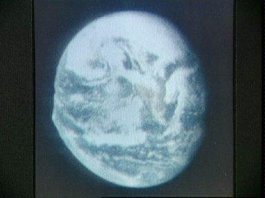 View of Earth from Apollo 10 taken from reproduction of tv transmission