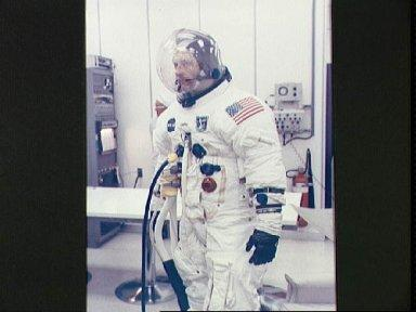 Astronaut Thomas Stafford during Countdown Demonstration Test at KSC