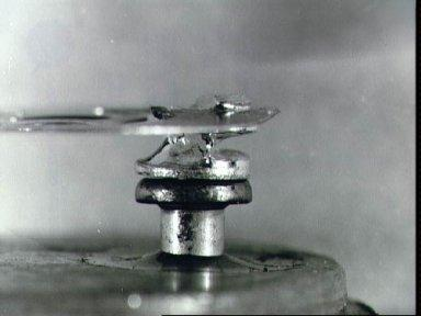 Fused thermal switch from Apollo Service Module oxygen tank after test