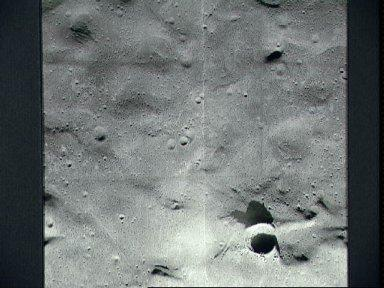 Near vertical view of the Apollo 14 landing site in Fra Mauro highlands