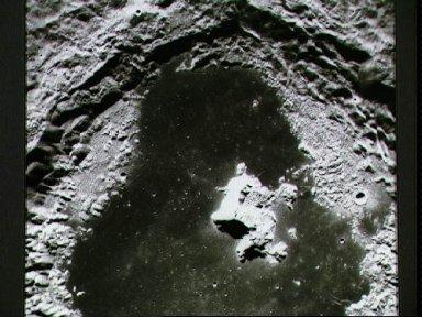 View of crater Tsiolkovsky on lunar farside as photographed by Apollo 15