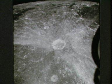 View of crater Proclus on lunar nearside as photographed by Apollo 15
