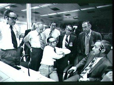 NASA Officials in MCC to decide whether to land Apollo 16 or cancel landing