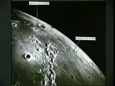 Apollo 16 view of moon taken with Fairchild metric mapping camera in orbit