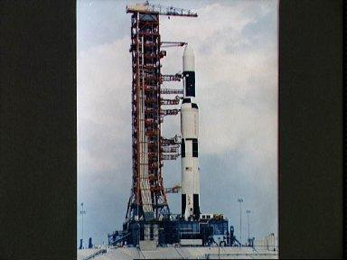 View of Pad A, Launch Complex 39 showing Skylab 1 space vehicle on pad
