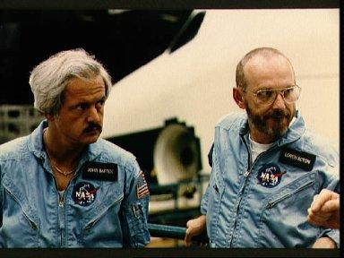STS 51-F payload specialists during training