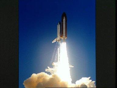 STS-41 Discovery, OV-103, lifts off from KSC Launch Complex (LC) Pad 39